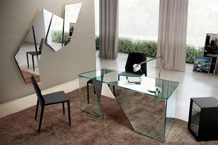 GLASS OFFICE TABLE SCRIBE - DESIGNER DANIEL LIBESKIND